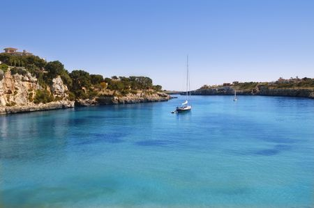 balearic: Manacor Porto Cristo Mallorca beach Balearic islands Spain    Stock Photo