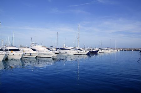 mallorca: Mallorca Puerto Portals port harbor marina yacht in Spain