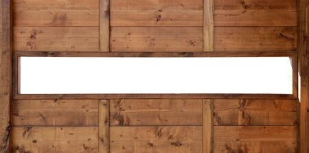 Wood window wall with panoramic copyspace copy space photo