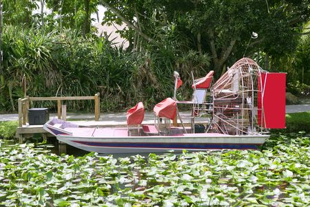 everglades national park: Everglades airboat in South Florida, National Park