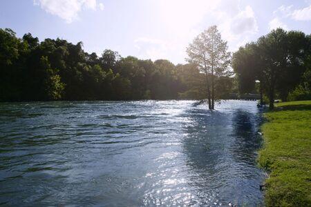 antonio: Blue river landscape near San Antonio Texas, nature Stock Photo