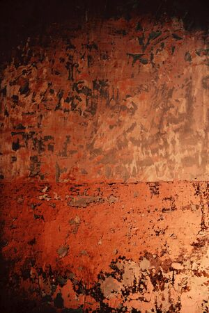 scraped: Aged grunge wall pink texture scraped old paint interior Stock Photo