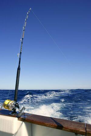 Angler boat big game fishing in saltwater ocean Stock Photo - 6660228
