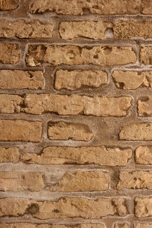 aged bricks brown background wall pattern texture photo