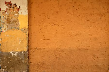 City painted walls in warm colors urban street culture photo
