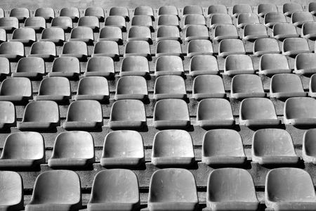 aged old stadium grandstand stands pattern  Stock Photo - 6767561