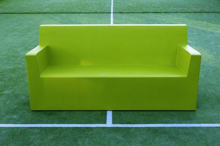relax sport tennis paddle field green sofa photo