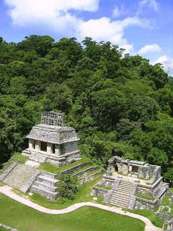 Palenque mayan ruins maya monuments Chiapas Mexico photo