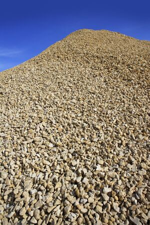 crushed pound stone mound quarry open blue sky  Stock Photo - 6985775