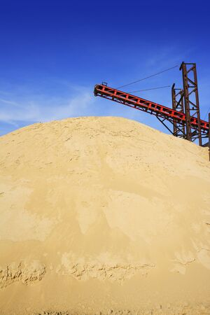 construction sand quarry mountain installation machinery Stock Photo - 6987219