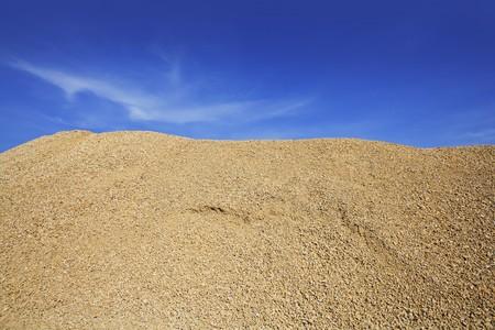 sand quarry: yellow gravel sand quarry mountain for construction concrete