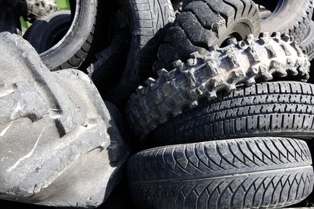 vehicle tyres recycle ecological factory waste environment industry photo