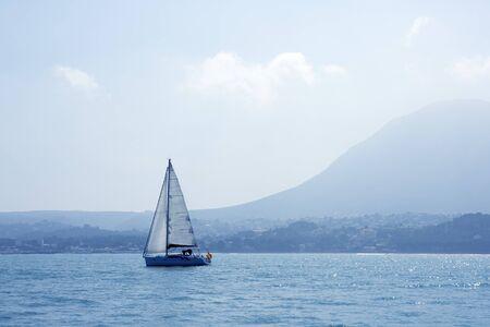 San Antonio Cape sailing sailboat in Denia Alicante Spain photo
