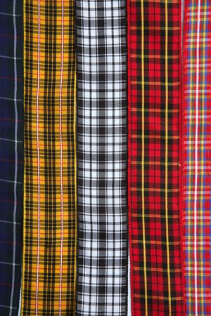 Scottish tartan fabric tapes pattern background fashion trend photo