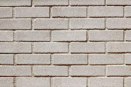 precast: precast concrete white bricks brickwall wall pattern texture Stock Photo