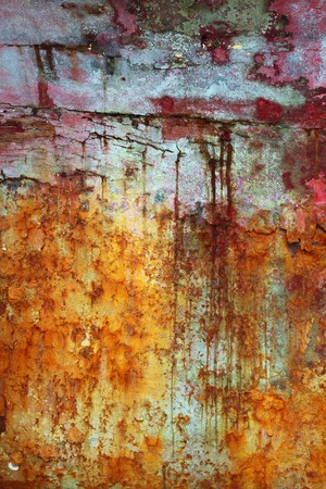 green and red grunge aged paint wall texture background Stock Photo - 7102683