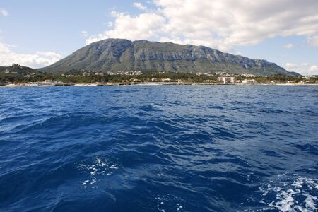 mongo: Mongo montgo mountain from mediterranean sea in Denia Alicante Spain