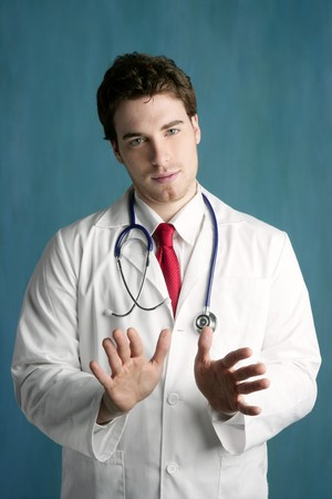 happy young male doctor man handsome photo