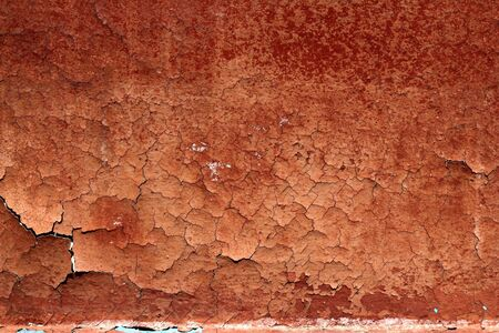 grunge red brown aged crackle paint wall texture vintage background Stock Photo - 7143152