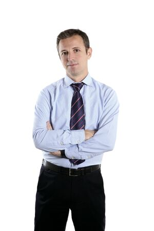 businessman middle age crossed arms tie Stock Photo - 7239890