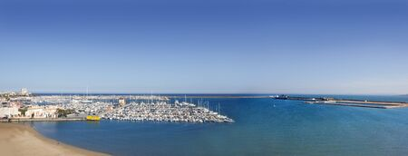 alicante: Torrevieja Alicante aerial view panoramic mediterranean sea and Spain village Stock Photo