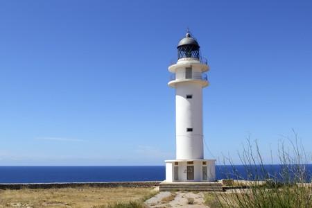 baleares: Barbaria lighthouse formentera Balearic islands blue sunny mediterranean day