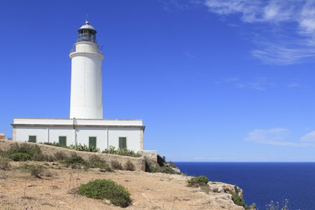 Formentera La Mola lighthouse balearic islands mediterranean Sea photo