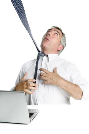 ahorcado: empate verdugo senior empresario destac� el fondo de escritorio blanco