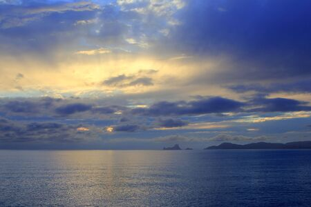 sunset Formentera Ibiza Island Es Vedra horizon Balearic Islands photo