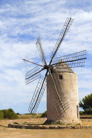 balearic: Salt windmill traditional Formentera Ibiza Balearic islands