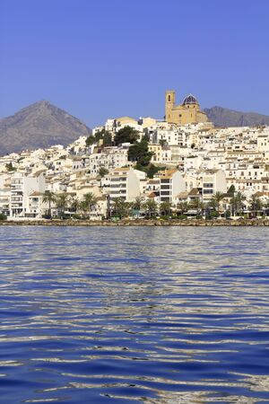 altea: Altea Alicante province Spain view from Mediterranean blue sea