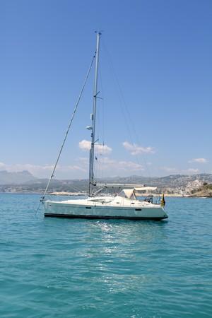 vac: sailboat turquoise  Moraira Playa Portet