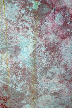 grunge red green aged paited paint wall texture background Stock Photo - 7591899