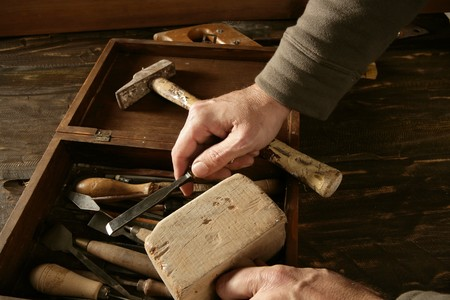 craft work: craftman carpenter hand tools artist craftmanship