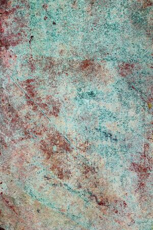 green and red grunge aged paint wall texture background photo