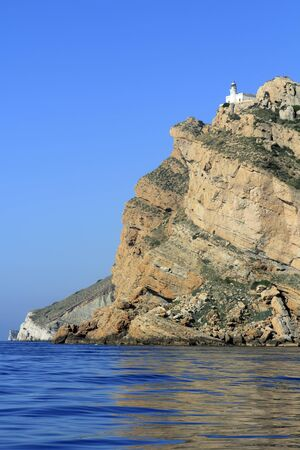 albir: Punta Albir Cape near Altea lighthouse mountain mediterranean sea Alicante Spain
