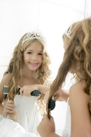 princess little blond  girl  smiling Stock Photo - 7780701
