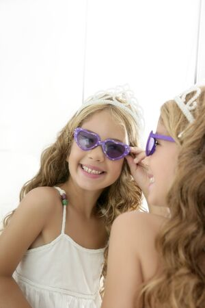 princess little blond  girl  smiling Stock Photo - 7780652