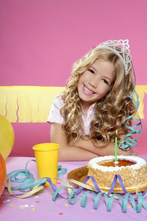little blond girl  in a birthday party  Stock Photo - 7780724
