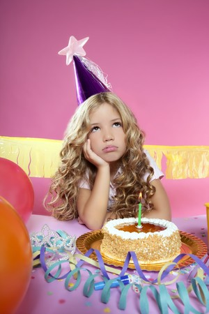 little blond girl  in a birthday party Stock Photo - 7780715