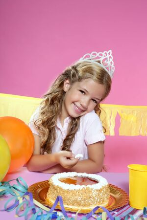 little blond girl  in a birthday party  Stock Photo - 7780719