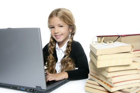 little blond school girl  smiling Stock Photo - 7780668