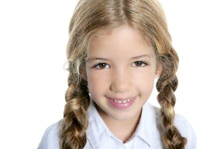 little blond girl  smiling   photo