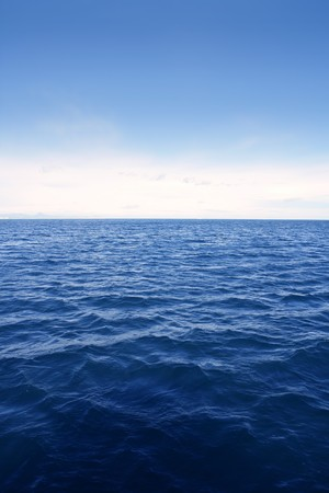 deep sea: Blue simple clean seascape sea view in vertical