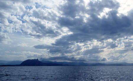 mongo: Cloudy seascape blue ocean sea in Mongo Denia Alicante spain