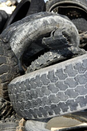 vehicle tyres recycle ecological factory waste environment industry Stock Photo - 8289104