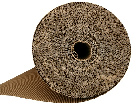 roll: cardboard packing texture carton in brown color