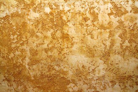 ocher yellow wall texture grunge background in Mediterranean house photo