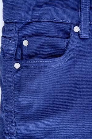 trouser: Denim blue jeans trouser pants pocket detail closeup texture