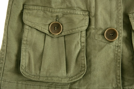 green jacket pocket militar inspired fashion trend detail photo